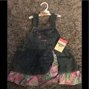 OshKosh denim jumper dress NWT 24M